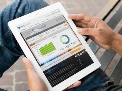 Financial planning tools on an iPad
