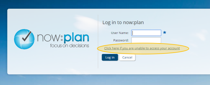 There is a link beneath the form fields on the login page that helps you reset your password.